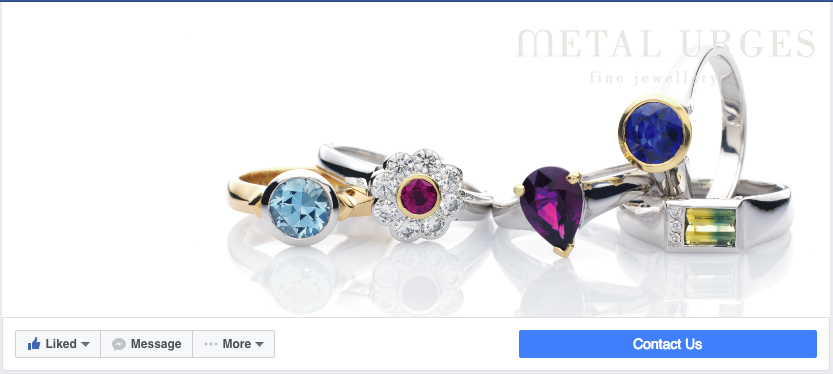Showcasing products with Facebook cover image